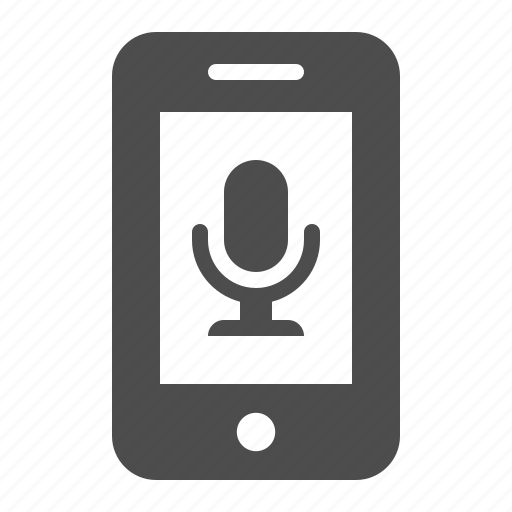app, microphone, mobile phone, phone, smartphone, speaker, telephone icon
