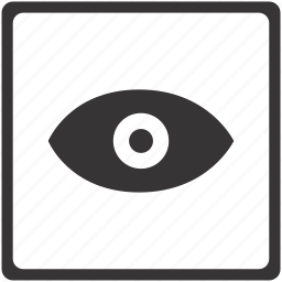 camera, eye, image, photo, picture, red, view icon