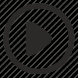 arrow, forward, next, operation, right, round icon