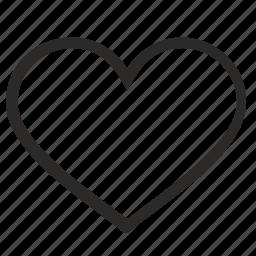 heart, like, love, romantic, sweet icon