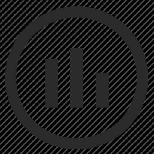 chart, data, report, round, statistics icon