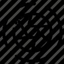 aperture, film, logo, movie, photo icon