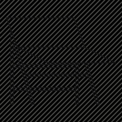 empty, light, line, outline, screen, stand, studio icon