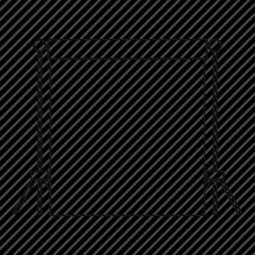 empty, light, line, outline, photo, screen, studio icon
