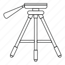 equipment, line, outline, photo, photography, technology, tripod icon