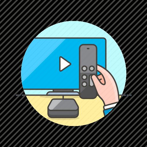 apple, photo, remote, stream, tv, video, watch icon