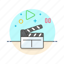 film, photo, slate, video icon