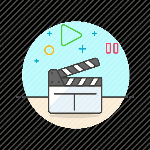 camera, film, photo, set, shoot, slate, video icon