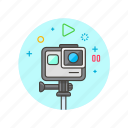 film, gopro, movie, photo, record, shoot, video icon