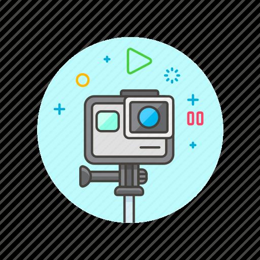 film, gopro, movie, photo, record, shoot, video icon