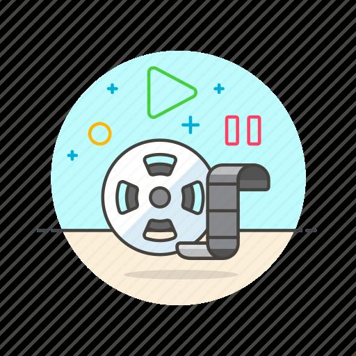 film, movie, photo, record, roll, shoot, video icon