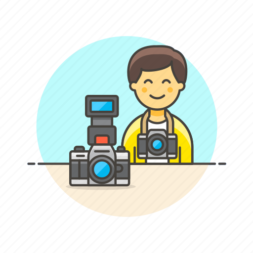 camera, image, man, photo, picture, shot, video icon
