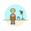 image, man, photo, picture, set, shot, video icon