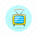 antenna, old, photo, retro, television, tv, video icon