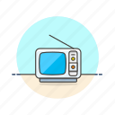 photo, television, video, antenna, old, retro, tv