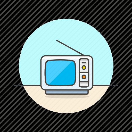 antenna, old, photo, retro, television, tv, video icon