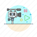 camera, photo, play, record, set, shoot, video icon