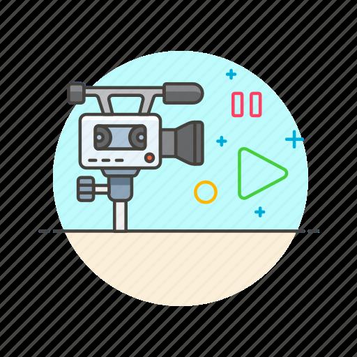 camera, photo, play, record, set, shoot, video icon