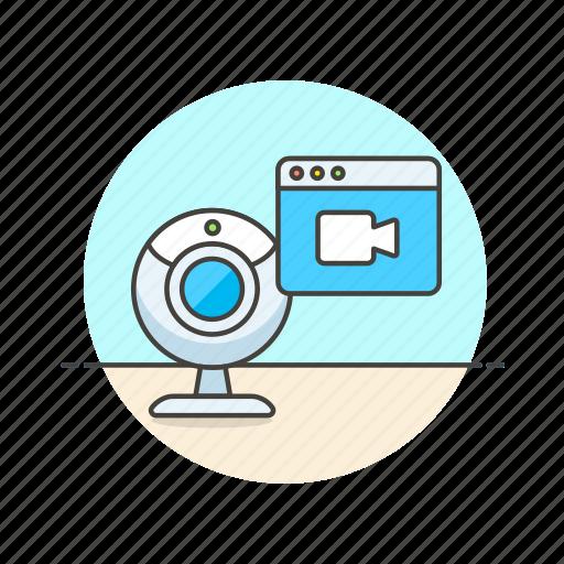image, photo, picture, record, shot, stream, video, webcam icon