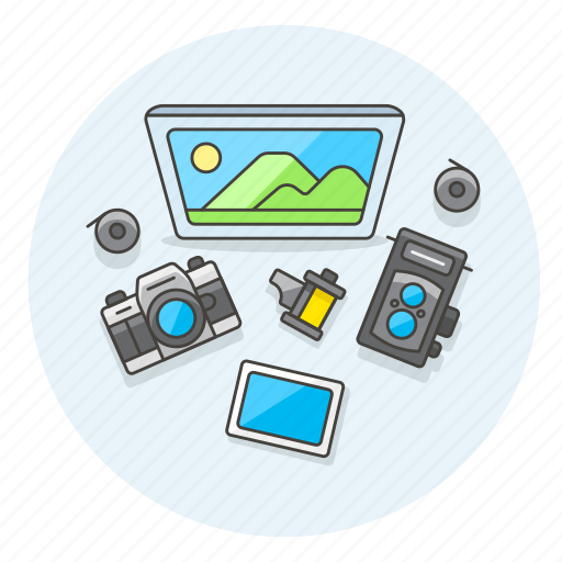 camera, equipment, image, photo, record, shot, video, workspace icon