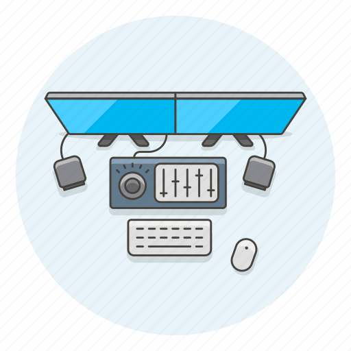 editor, equalizer, equipment, monitor, photo, video, workspace icon