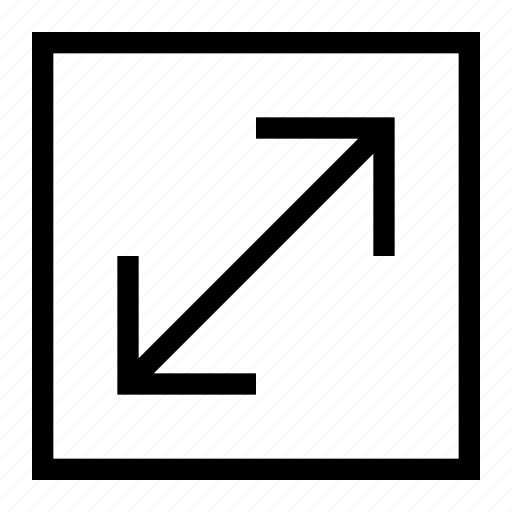 arrows, enlarge, expand, fullscreen, maximize, resize, size icon