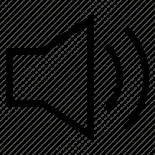 audio, music, on, player, sound, speaker, volume icon