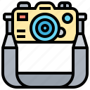 accessory, camera, hanging, photographer, strap icon