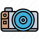 autofocus, camera, compact, photograph, technology icon