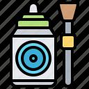 bottle, brush, cleaner, equipment, lens icon