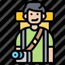 adventure, backpacker, camera, photographer, travel icon