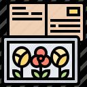 greeting, letter, photo, postcard, prints icon