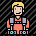 camera, strap, shoulder, photographer, hanging icon