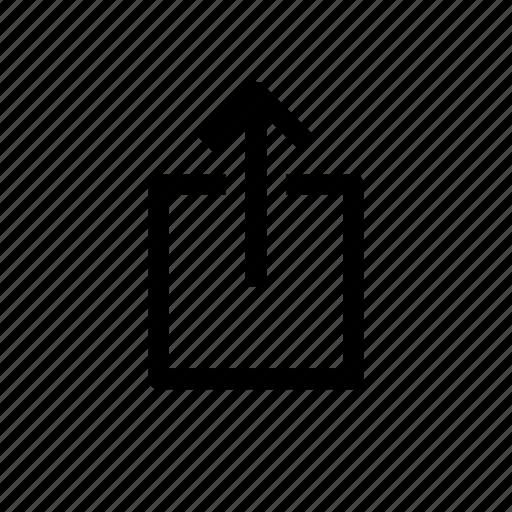 arrow, escape, export, up icon