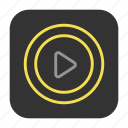 circle, play, music, media, multimedia