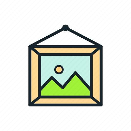 frame, photography, picture, print icon