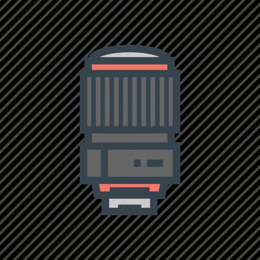 camera, lens, tele icon