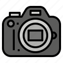 digital, lens, reflex, single icon