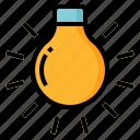 bulb, camera, photography, tungsten icon
