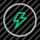 camera, dslr, flash, light, photography icon