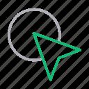 arrow, click, cursor, focus, photography