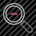 magnifier, minus, photography, search, zoomout