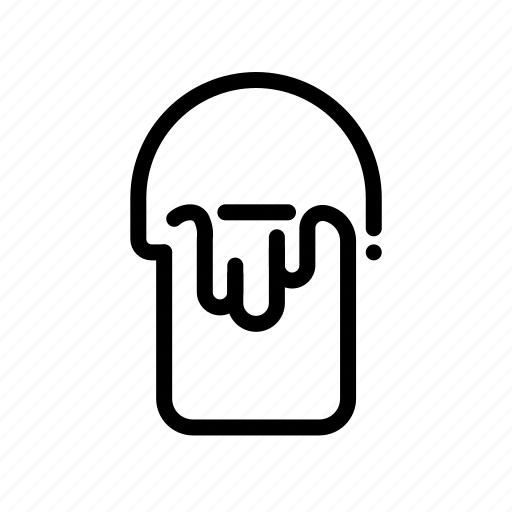 bucket, design, graphic, paint icon