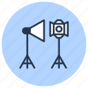 equipment, gear, light, photo, photography icon