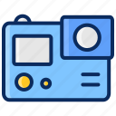action, action cam, camera, gopro, photography, video icon
