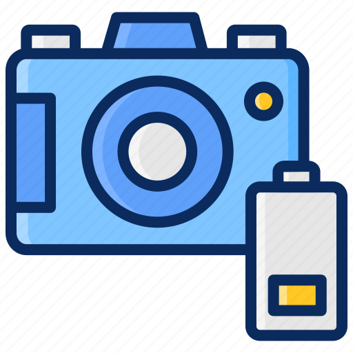 battery, camera, indicator, interface, low, photography icon