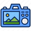 backview, camera, panoramic, photography, taking photo icon