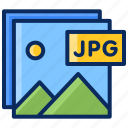 file, files, images, jpg, photography, photos, pictures icon