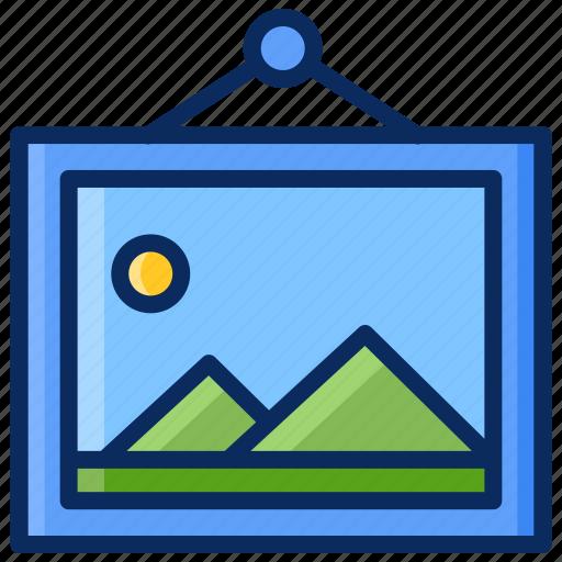 frame, image, painting, photo, photography icon