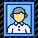 frame, man, pas, photo, photography icon
